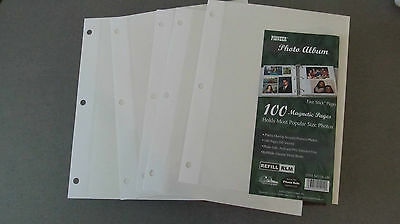 PIONEER PHOTO ALBUM REFILL RLM100 5 MAGNETIC  PAGES 10 SIDES 8 1/4 X10 1/2