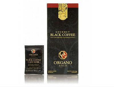 3box of healthy Gourmet Organo Gold Black Coffee 100%Organic Ganoderma +1 Sachet