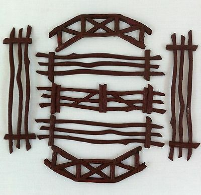 Archer Western Play Time Farm Brown Plastic Fence VTG Toy Replacement Parts Play