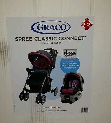 NEW Graco TRAVEL SYSTEM Stroller Car Seat Base Spree Classic Connect  Pammie New