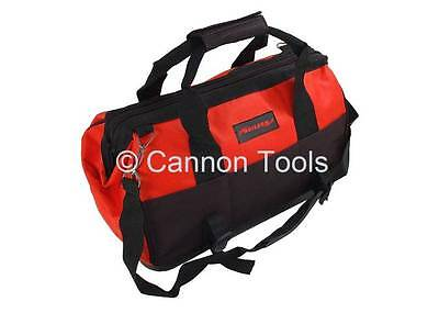 "16"" Heavy Duty Large Hard Bottom Tool Bag Tools Storage Case With 17 Pockets New"