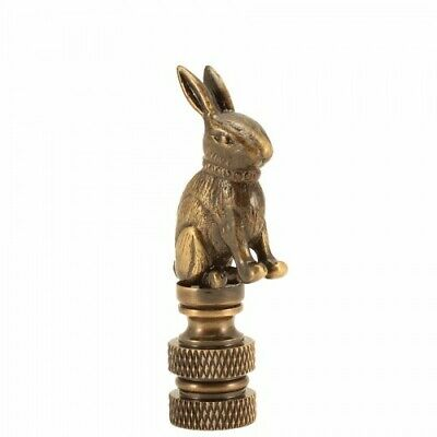 Antique Brass Rabbit Finial Lamp Topper Part Decoration High Quality All Metal
