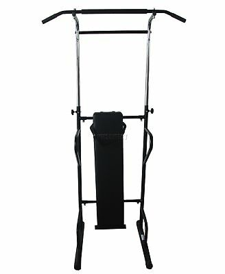 FoxHunter Fitness Power Tower Dip Gym Station 2 Pull Up Bar Abs Bench Knee Raise