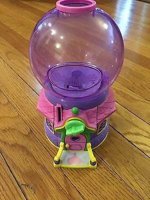 Squinkies Toy House Bubble Gum Machine Set Pink Purple Dispenser