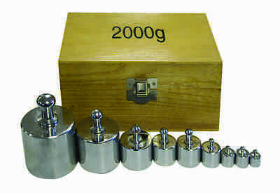 Walter Products B-150-W Weight Set, 2000g w/ Wooden Case