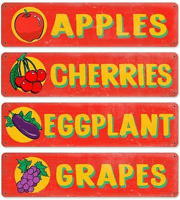 Country Garden Fresh Produce Farm Stand Metal Sign Fruit Vegetable Wall Decor
