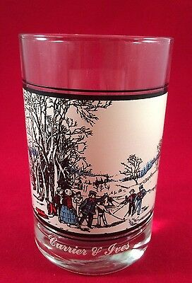 Arby's Holiday Glass 1978 Currier & Ives Winter Pastime OOP HTF Collectors