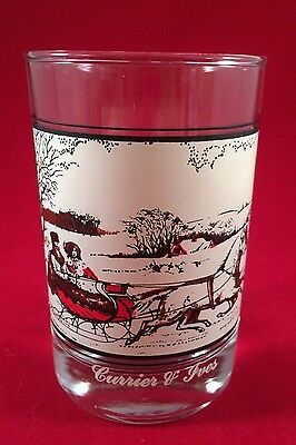 Arby's Holiday Glass 1981 Currier & Ives Road in Winter  OOP HTF Collectors