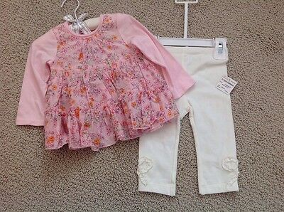 Infant Girls 2 piece set from the First Impressions collection. Size 6-9 Months