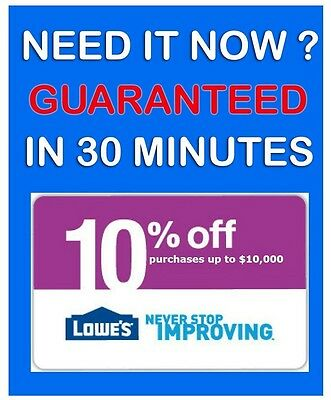 (5) Lowes 10% Off Coupons * 5/7/2015 PRINTABLE! Email Fast. ! GUARANTEED!!