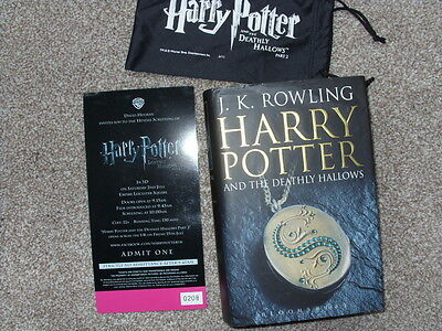 Harry Potter and the DEATHLY HALLOWS J K ROWLING 1/1 HARDCOVER SIGNED autograph