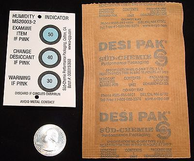 Desi Pak Desiccant Activated Clay Reusable12 each 33gram Dry USA MADE Free CARD