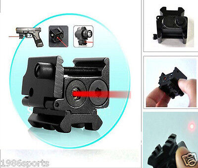 Hunting Mini 650nm Red Dot Laser Sight Dual Weaver Rail Under Mount Rail 20mm #7