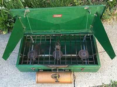 VINTAGE Coleman 426A Outdoor Camping Large 3 Burner Camp Stove Grill