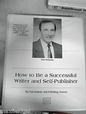 Ted Nicholas' Self Publishing, 20 Cassette Tapes, How to be a Successful.....