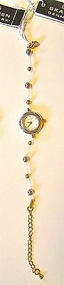 NWT SKAGEN Ladies/Girls Quartz Watch White Dial Bead Bracelet ~ 135SGFW
