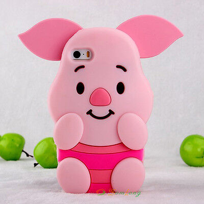 3D Cartoon Fashion Soft Rubber Silicone Back Case Cover Skin for For  iphone 5S