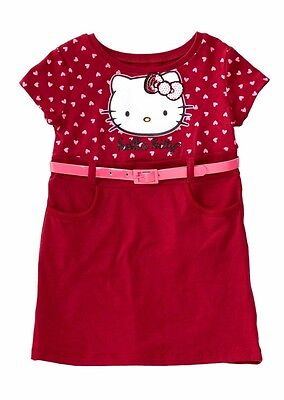 Hello Kitty Printed Dress Rumba Red 5T
