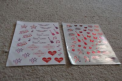 HANNAH MONTANA STICKERS by Disney 2 Sheets 75+ Stickers NEW