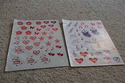HANNAH MONTANA STICKERS by Disney 2 Sheets 75+ Stickers NEW Lot #2