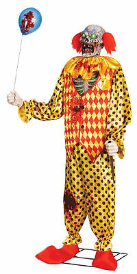 LIFE SIZE ZOMBIE CLOWN ANIMATED 6FT TALL PSYCHO CIRCUS