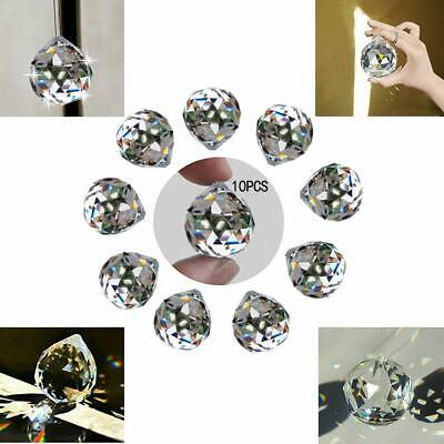 10 Clear Crystal Glass Chandelier Light Ball Prisms Suncatcher Drop Pendant 20MM