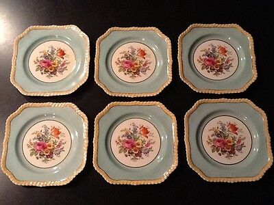 Vintage Old English Johnson Bro Square Plate salad dessert lunch ironstone 7 3/4