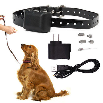 NEW Rechargeable Auto Static Shock Anti No Bark Control Collar for Dog Training