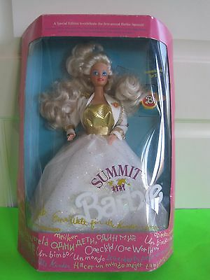 Genuine Summit Barbie Doll -Special Edition -1990 Mattel -Never Removed From Box