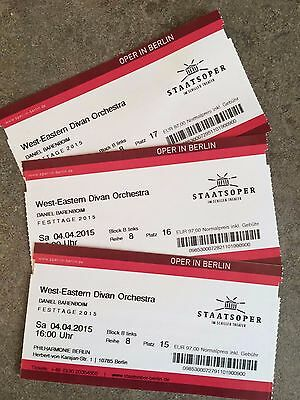 "Tickets: ""West-Eastern Divan Orchestra - Daniel Barenboim"", 04.04.2015, Berlin"