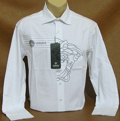 NEW With Tags MEN'S VERSACE Slim Fit Long Sleeve SHIRT Size M