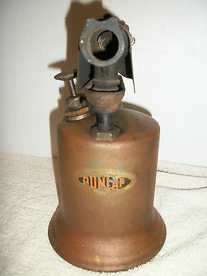 Antique Vintage Collectible Display Dunlap Brass Soldering Gas Blow Torch