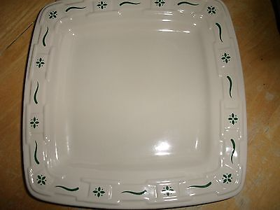 """Longaberger Woven Traditions Heritage GREEN SQUARE SERVING PLATTER 11"""" X 11"""" NEW"""