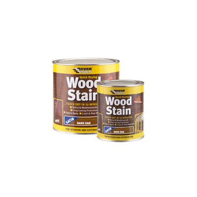 EVERBUILD QUICK DRYING WOOD STAIN | Many Colours 250/750ml 2.5L | Weatherproof