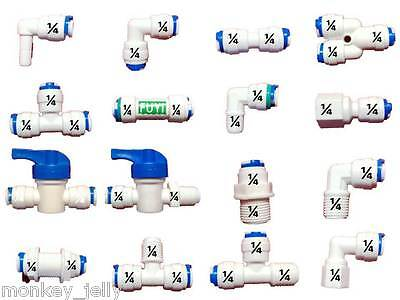 """1/4"""" All Types of Push / Quick Fit Pipe Fittings for American Fridge & RO Units • EUR 1,63"""