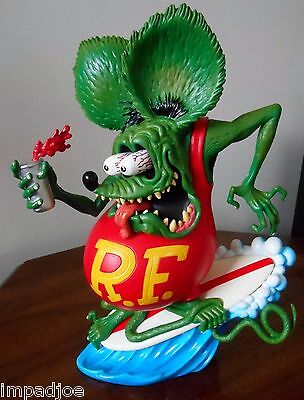 NEW ED ROTH RAT FINK STATUE SURF'S UP LIMITED EDITION