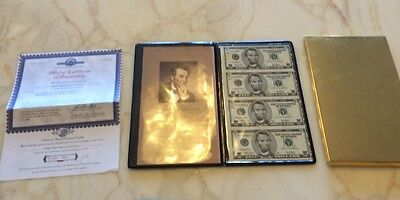 Uncut *4 X Sheet  $ 5 Dollar Bills- UNCIRCULATED CURRENCY   BILLS USA