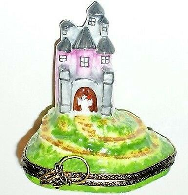 LIMOGES BOX - HALLOWEEN - HAUNTED HOUSE - MANSION & 3D GHOST & JACK-O-LANTERN