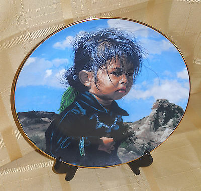 1988 THE HAMILTON COLLECTION NAVAJO LITTLE ONE  BY RAY SWANSON # 0893E