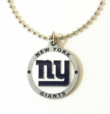 NEW YORK GIANTS LARGE PENDANT NECKLACE 22220A football sports jewelry