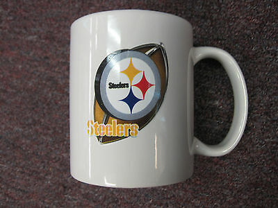 Pittsburgh Steelers Officially Licensed 3-d Enhanced NFL Coffee Handle Mug White