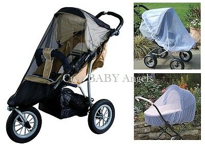 Pushchair Stroller Pram Carrycot Universal Insect Net Fly & Mosquito Mesh Cover