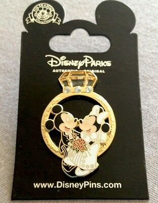 Disney Mickey And Minnie Mouse Wedding Ring 3D Pin