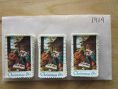 # 1414 x 100 Used US Stamps Lot  Christmas 1970 Issue  See our other lots