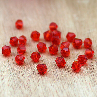 Free Shipping DIY jewelry 100PCS Austria Crystal 5301 3mm bicone Beads Red