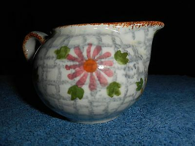 SMALL SPONGEWARE CREAMER WITH FLOWERS MADE IN GERMANY