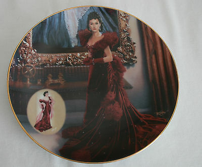 Gone With the Wind The Red Dress Bradford Exchange 1993 Excellent Condition COA