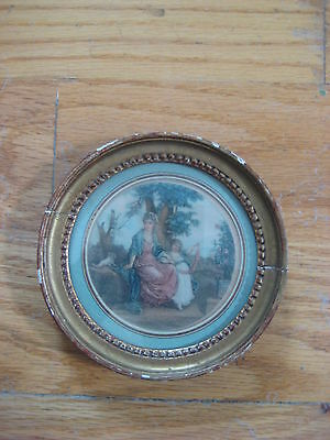 ANTIQUE VINTAGE EUROPEAN MINIATURE ROCOCO FRENCH FRAGONARD BOUCHER WATTEAU OLD