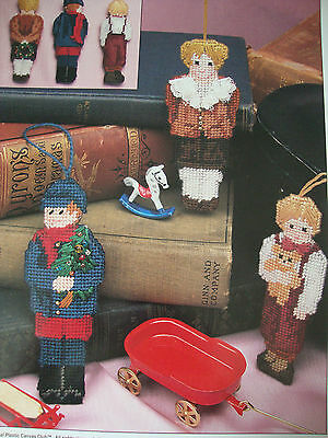VICTORIAN BOY ORNAMENTS ~*~PLASTIC CANVAS PATTERN BY ANNIE'S