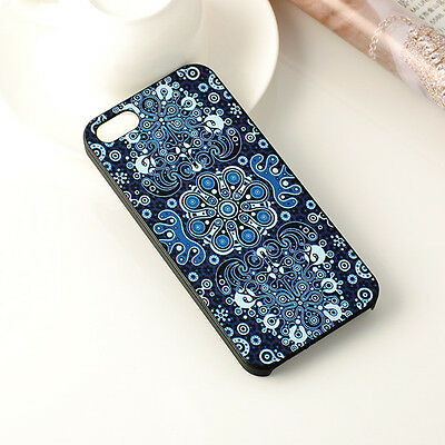 Unique Blue Flower Hard Back Case Cover Protector Full Skin For Apple Iphone5 5s